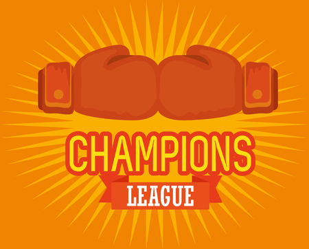 boxing sport champions league vector illustration design Archivio Fotografico - 108504020