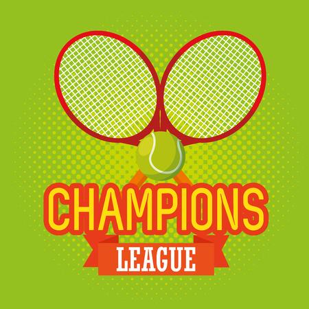 tennis sport champions league vector illustration design
