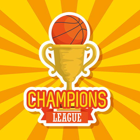basketball sport trophy cup icon vector illustration design