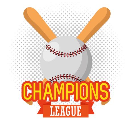 baseball sport champion league vector illustration design Ilustração