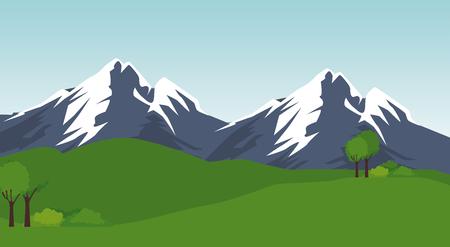 park landscape scene icon vector illustration design