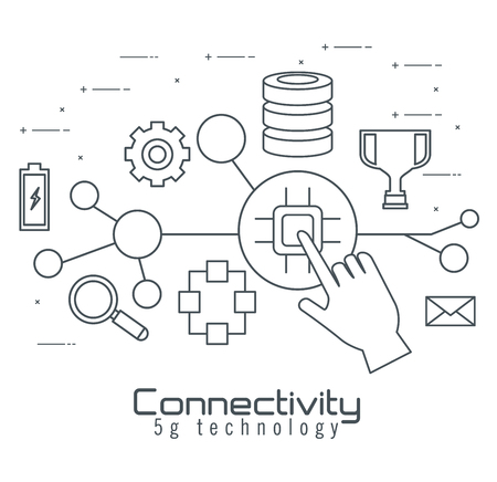 connectivity 5g technology icons vector illustration design