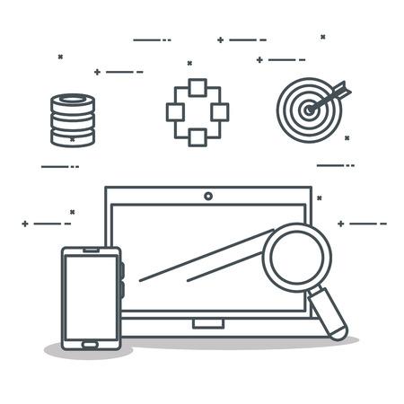 laptop computer with connectivity 5g tech vector illustration design Banque d'images - 109821498