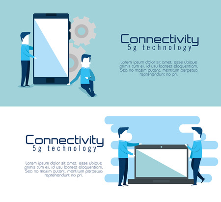 connectivity 5g technology icons vector illustration design Illustration