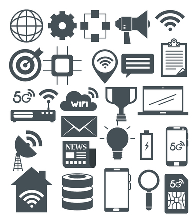 Connectivity 5g technology icons vector illustration design Illustration