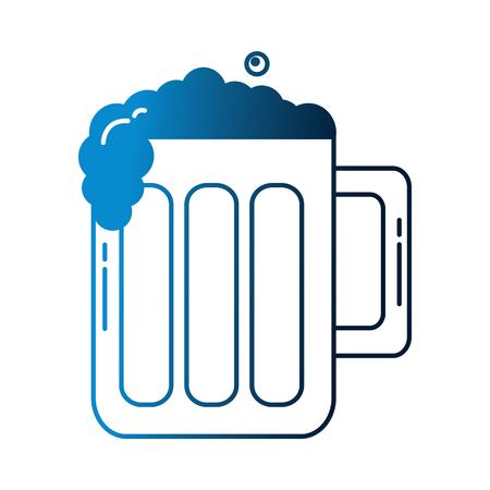 beer glass foam drink celebration vector illustration neon