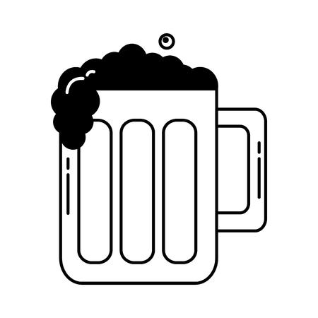 beer glass foam drink celebration vector illustration