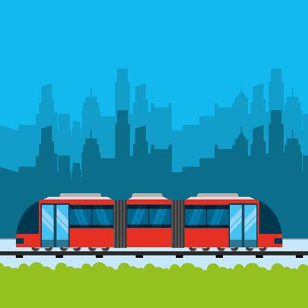 navigation transportation city rails meter vector illustration