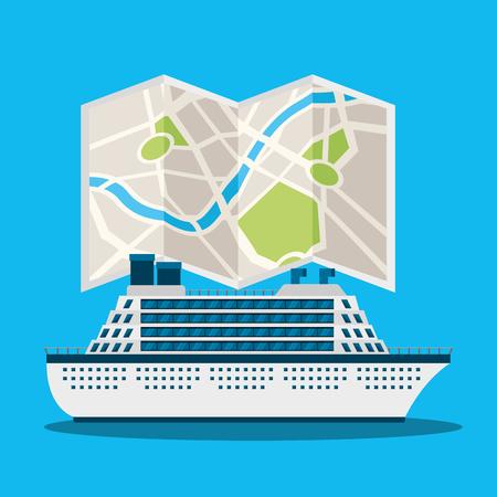 gps navigation transportation cruise map location guide vector illustration Illusztráció