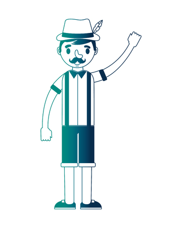 german man with typical costume vector illustration design