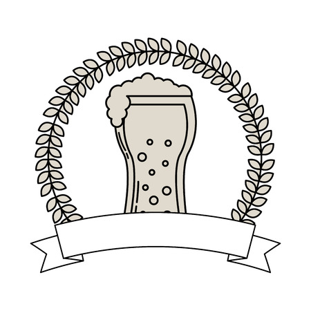 beer glass drink celebration emblem vector illustration outline Ilustrace