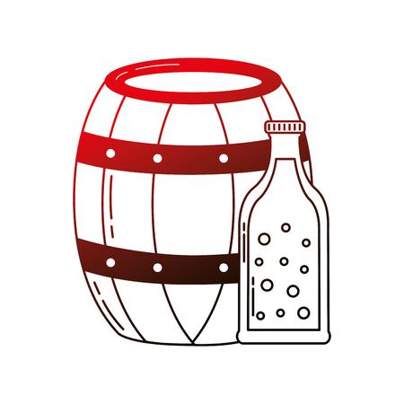 beer barrel and bottle drink beverage vector illustration neon Stok Fotoğraf - 109824141