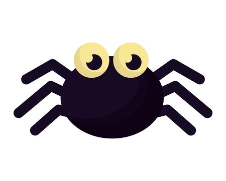 Halloween Spinne isolierte Ikone Vektor-Illustration Design