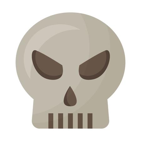 halloween skull isolated icon vector illustration design