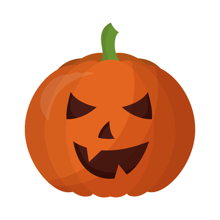 halloween pumpkin isolated icon vector illustration design Çizim