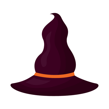 halloween witch hat isolated icon vector illustration design