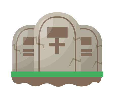 halloween tombs isolated icon vector illustration design Banque d'images - 109824192