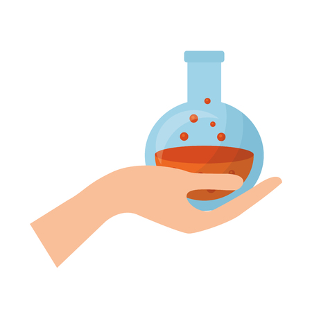 hand with halloween poison isolated icon vector illustration design