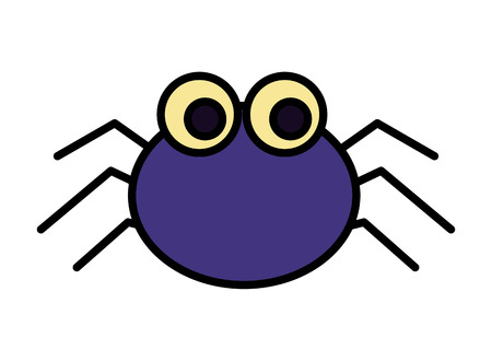 halloween spider isolated icon vector illustration design Imagens - 109824206