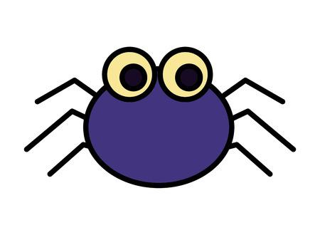 Halloween-Spinne isolierte Ikone Vektor-Illustration Design