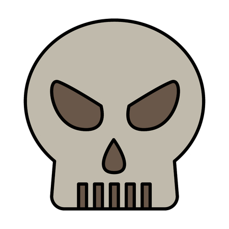 halloween skull isolated icon vector illustration design