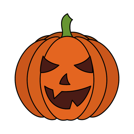 halloween pumpkin isolated icon vector illustration design Ilustrace