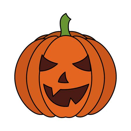halloween pumpkin isolated icon vector illustration design Illustration