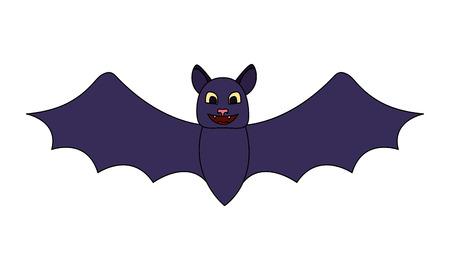 halloween bat isolated icon vector illustration design
