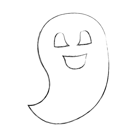 ghost spirit halloween scary cute cartoon vector illustration hand drawing