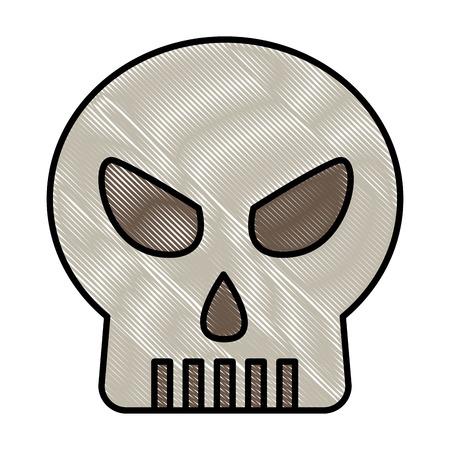 skull death head horror danger vector illustration