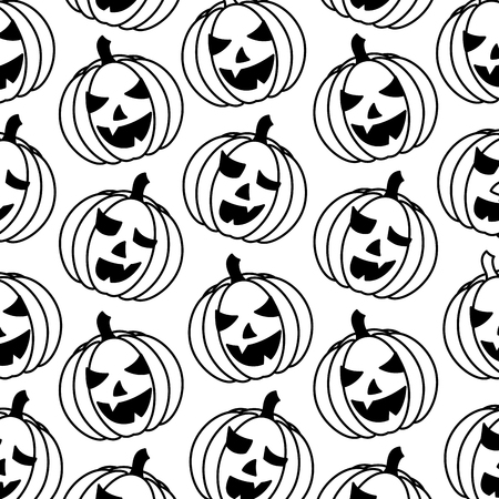 halloween pumpkin icon pattern vector illustration design