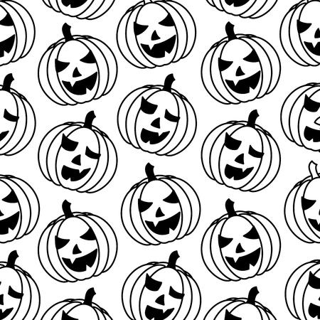halloween pumpkin icon pattern vector illustration design