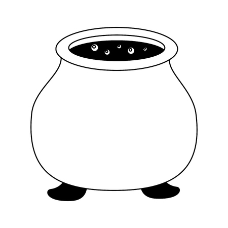 halloween cauldron isolated icon vector illustration design