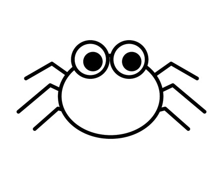 halloween spider isolated icon vector illustration design