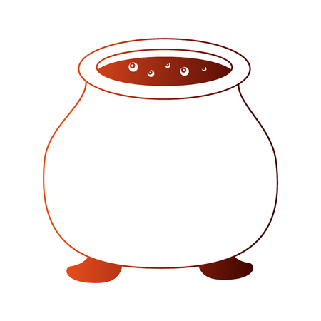halloween cauldron isolated icon vector illustration design