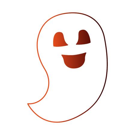 halloween ghost isolated icon vector illustration design