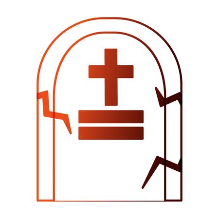 halloween tomb isolated icon vector illustration design Stock Vector - 109824307
