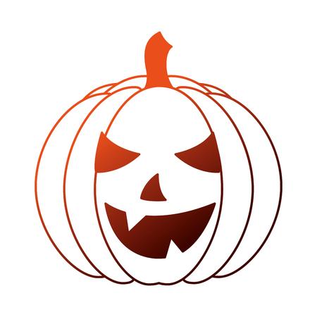 halloween pumpkin isolated icon vector illustration design Çizim
