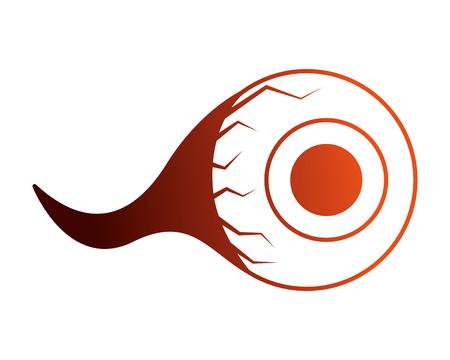 halloween eye isolated icon vector illustration design