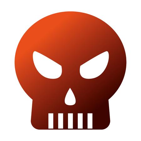 halloween skull isolated icon vector illustration design Stock Vector - 109824313