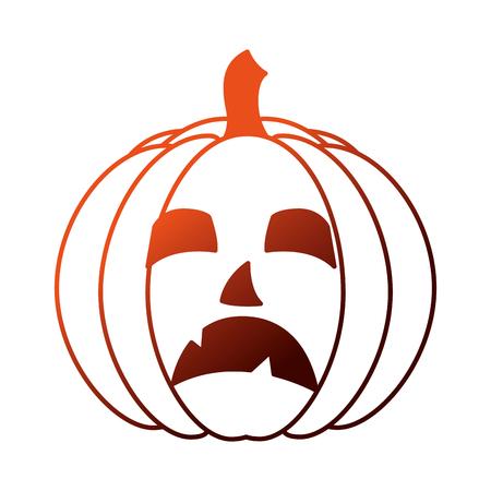 halloween pumpkin isolated icon vector illustration design 向量圖像