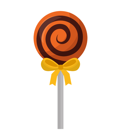 halloween sweet lollipop isolated icon vector illustration design Ilustração