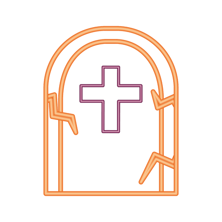 halloween tomb isolated icon vector illustration design