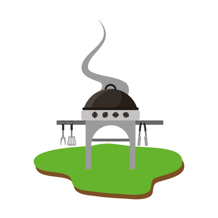 barbeque with grill isolated icon vector illustration design Standard-Bild - 109824538