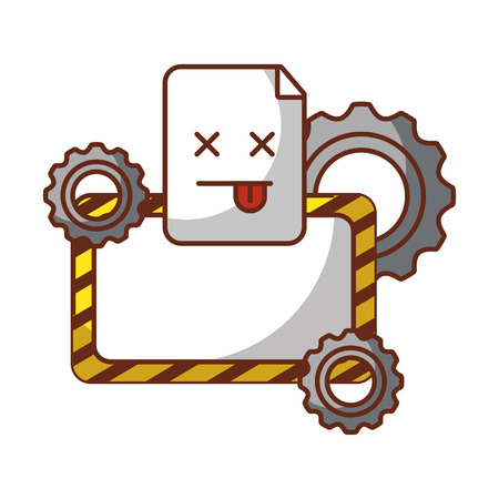 leeg bord versnellingen technologie website fout vectorillustratie Vector Illustratie