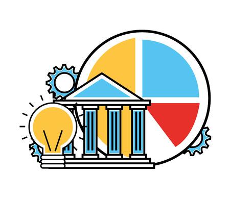 financial business set icons vector illustration design