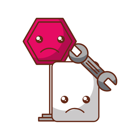 error website sign cartoon tool support vector illustration