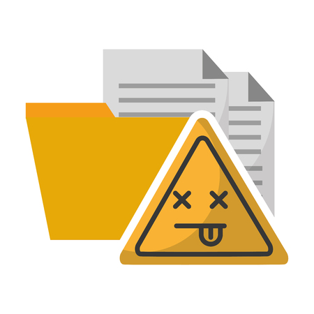data protection error problem files vector illustration
