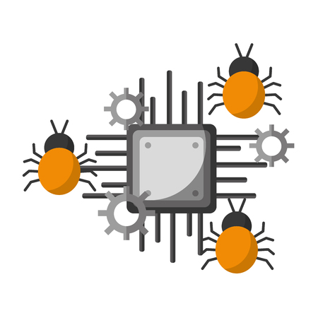 data protection circuit virus attack vector illustration
