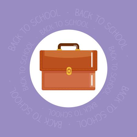 schoolbag supply isolated icon vector illustration design Ilustração